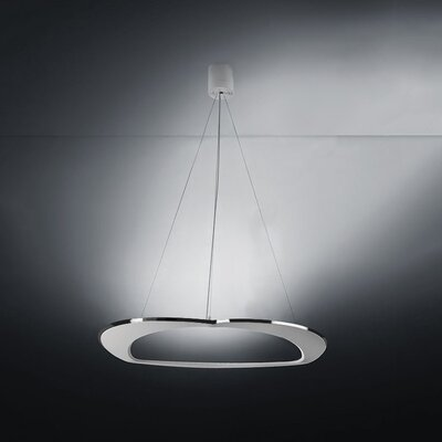 Diadema 3-Light LED Geometric Pendant Finish: Aluminum/White