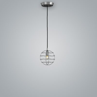 Sphere Suspension 1-Light Mini Pendant Finish: Pewter