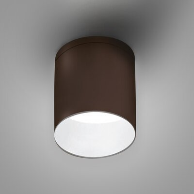 Kone 1-Light LED Directional and Spotlight Fixture Finish: Chocolate/White
