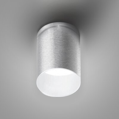 Kone 1-Light LED Directional and Spotlight Fixture Finish: Brushed Aluminum/White