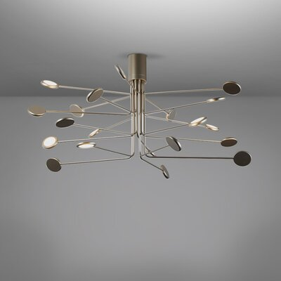 Arbor 20-Light LED Flush Mount Fixture Finish: Gold/Silver