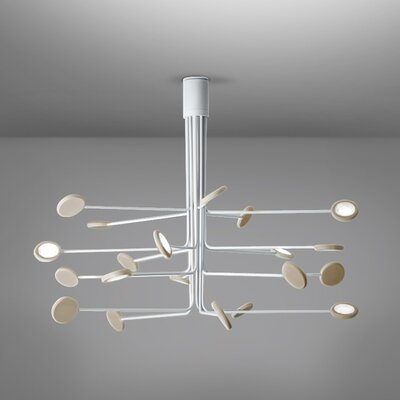 Arbor 20-Light LED Semi Flush Mount Fixture Finish: White/Dove Gray