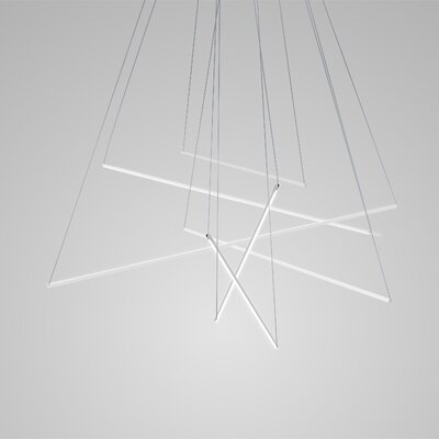 Spillo Geometric Pendant Finish: White