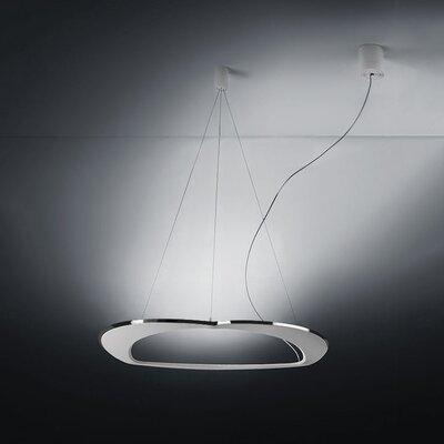 Diadema 3-Light Chandelier Finish: Aluminum/White