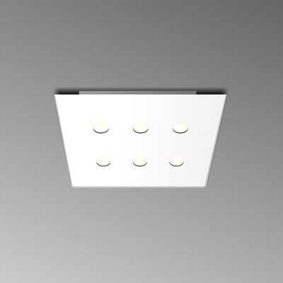 6-Light Flush Mount Fixture Finish: White