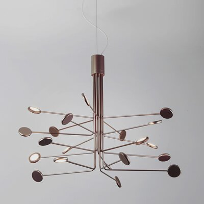 Arbor 20-Light LED Sputnik Chandelier Finish: Copper/Silver