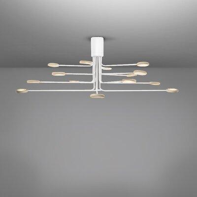 Arbor 16-Light LED Semi Flush Mount Fixture Finish: White/Dove Gray