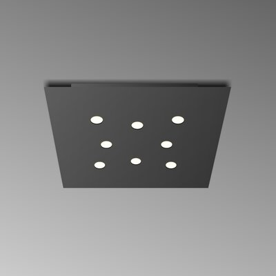 8-Light Flush Mount Fixture Finish: Black