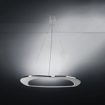 Diadema 3-Light Chandelier Finish: Aluminum/White