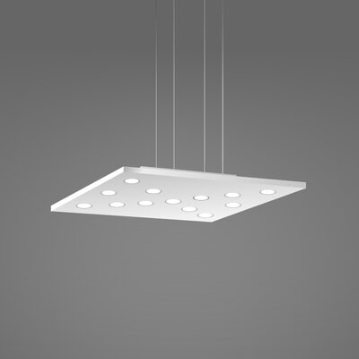 Pop Suspension 11-Light Pendant Fixture Finish: White