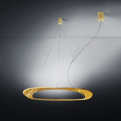 Diadema 3-Light LED Geometric Pendant Finish: Gold Leaf