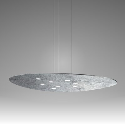 Scudo Suspension 9-Light Pendant Finish: Silver Leaf