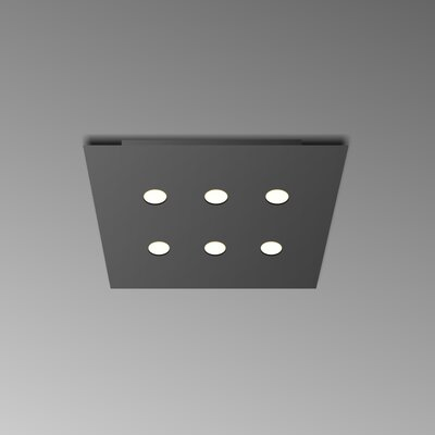 6-Light Flush Mount Fixture Finish: Black