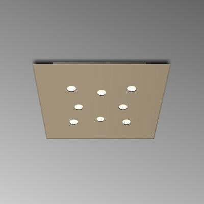 8-Light Flush Mount Fixture Finish: Dove Gray