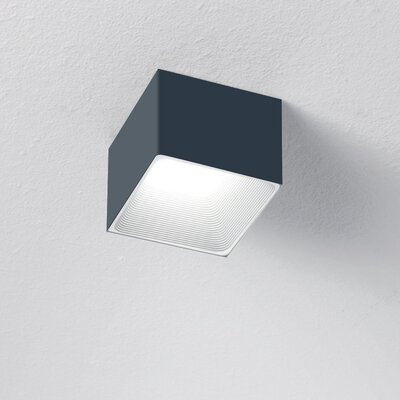 1-Light LED Flush Mount Finish: Titanium/White