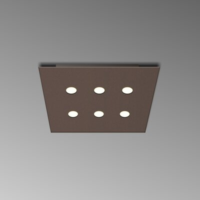 6-Light Flush Mount Fixture Finish: Mocha