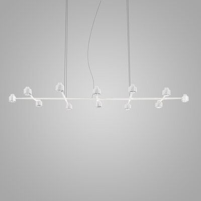 Spider 12-Light Kitchen Island Pendant Finish: White