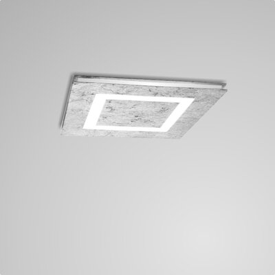 Flush Mount Fixture Finish: Silver Leaf