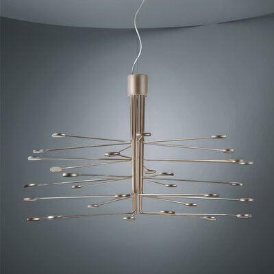 Arbor 20-Light LED Sputnik Chandelier Finish: Gold/Silver
