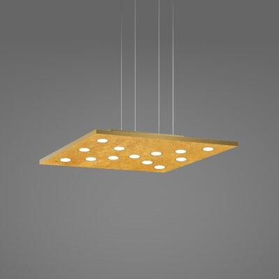 Pop Suspension 11-Light Pendant Finish: Gold Leaf/Brushed Gold