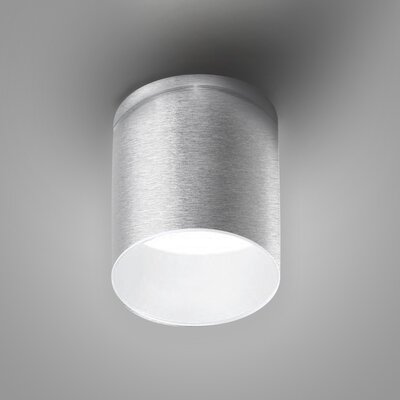 Kone 1-Light LED Directional and Spotlight Fixture Finish: Brushed Aluminum/White