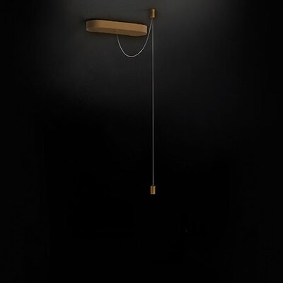 Pendant Canopy Flush Mount Fixture Finish: Gold