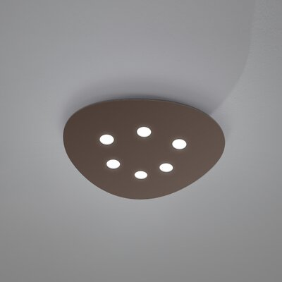 Scudo 6-Light Flush Mount Fixture Finish: Mocha