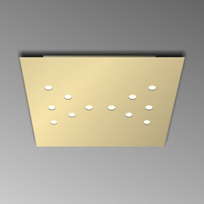 12-Light Flush Mount Fixture Finish: Gold Silver