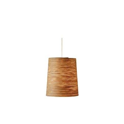1-Light Drum Pendant Finish: Beige, Size: 11.75 H x 10 W x 10 D