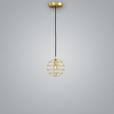 Sphere Suspension 1-Light Mini Pendant Finish: Brass