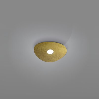 Scudo 1-Light Flush Mount Fixture Finish: Gold Leaf
