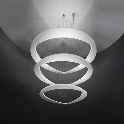 Diadema 1-Light LED Geometric Pendant Finish: White