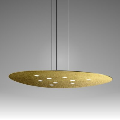 Scudo Suspension 9-Light Pendant Finish: Gold Leaf