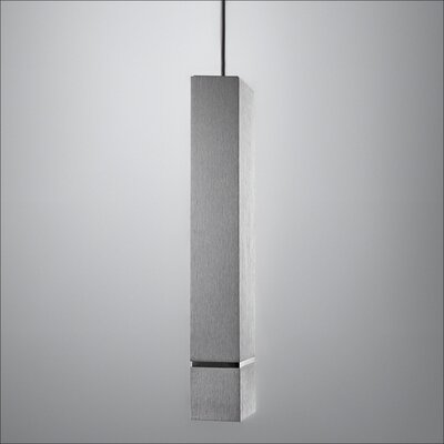 Drama Mini Pendant Finish: Brushed Aluminum/White