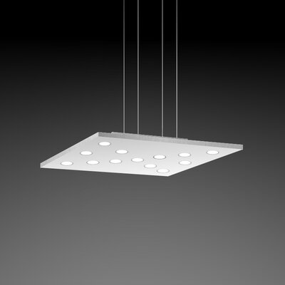 Pop Suspension 11-Light Pendant Fixture Finish: White/Aluminum