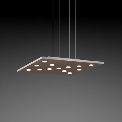Pop Suspension 11-Light Pendant Finish: Mocha/Aluminum