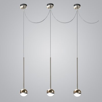 1-Light Mini Pendant Finish: Nickel/Satin