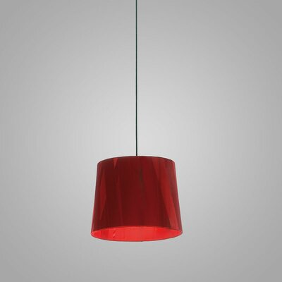 Dress 12 Drum Pendant Finish: Red