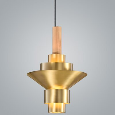 Reflections 2-Light LED Geometric Pendant Finish: Brass