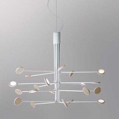 Arbor 20-Light LED Sputnik Chandelier Finish: White/Dove Gray