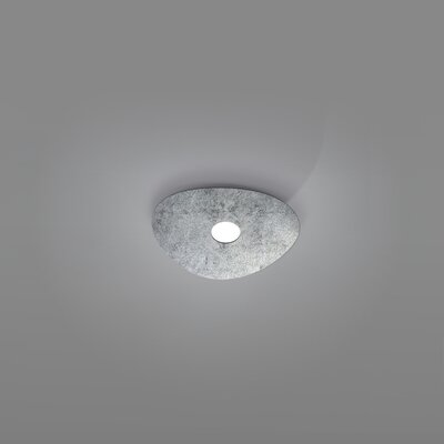 Scudo 1-Light Flush Mount Fixture Finish: Silver Leaf