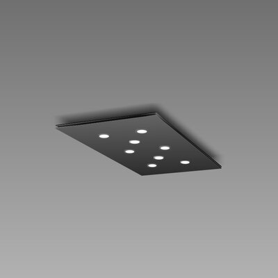 Pop 8-Light Flush Mount Fixture Finish: Black