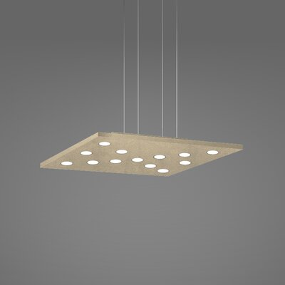 Pop Suspension 11-Light Pendant Fixture Finish: Gold Silver