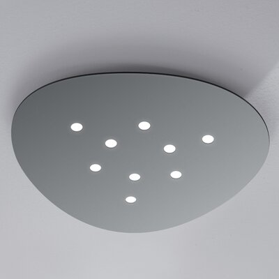 Scudo 9-Light Flush Mount Fixture Finish: Gray
