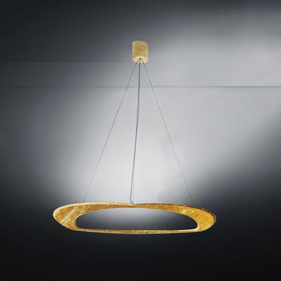 Diadema 3-Light Chandelier Finish: Gold Leaf