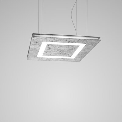 Flat 2-Light Geometric Pendant Finish: Silver Leaf