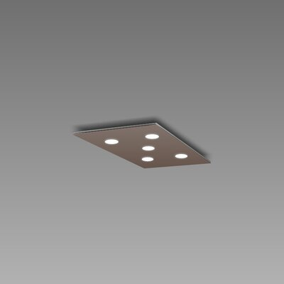 Pop 5-Light Flush Mount Fixture Finish: Mocha/Aluminum