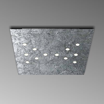 12-Light Flush Mount Fixture Finish: Silver Leaf