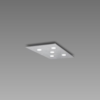 Pop 5-Light Flush Mount Fixture Finish: Silver Leaf/Aluminum