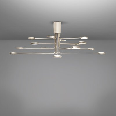 Arbor 16-Light LED Semi Flush Mount Fixture Finish: Gold/Silver